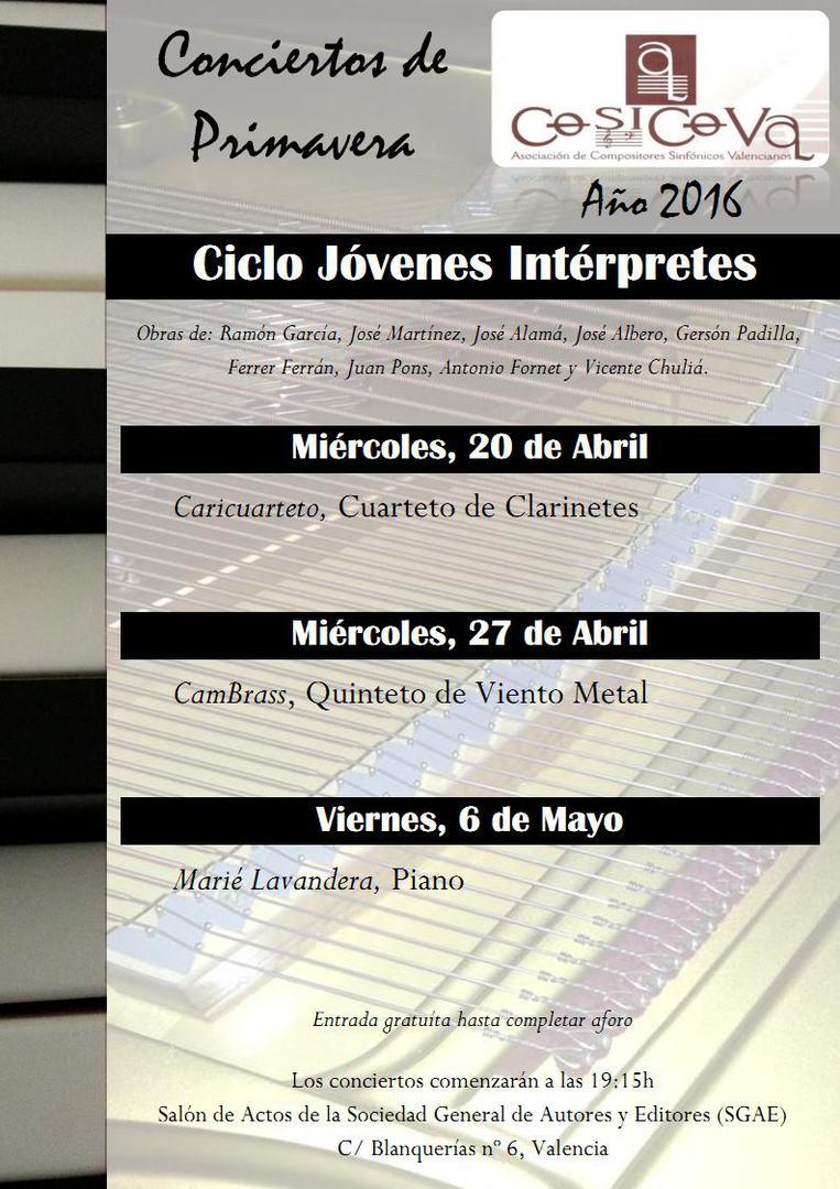 Cartel de los Conciertos de Primavera
